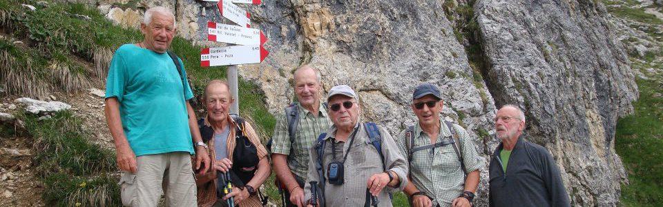 Seniorenwanderung im Val di Fassa